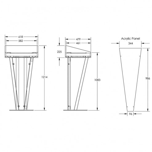 Metal Rostrum Dimensions