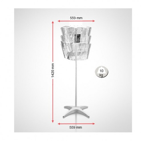 Dimensions for mini carousel rotating stand