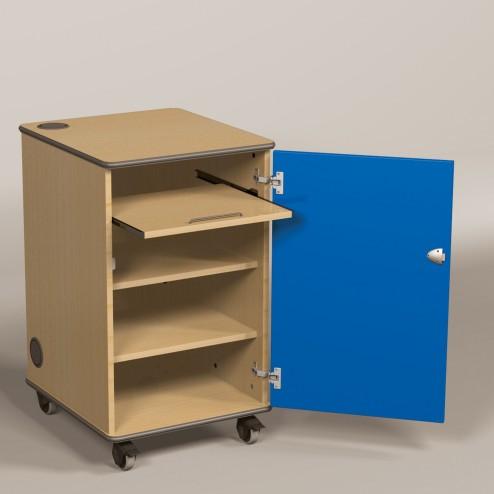 Av cabinet with Blue Doors