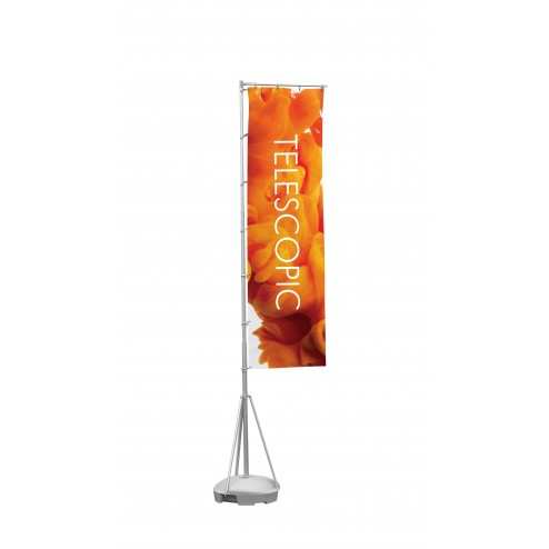Portable 5/6m Telescopic Waterbased Event Flag Pole