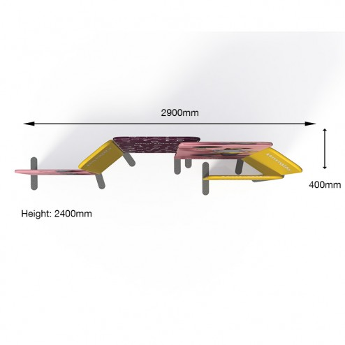 Recommended Configuration of Modulate™ POS Advertising Stand With Measurements