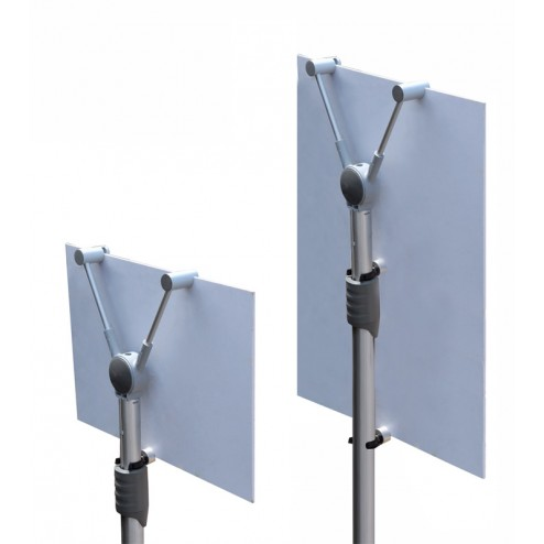 Adjustable for different panel sizes