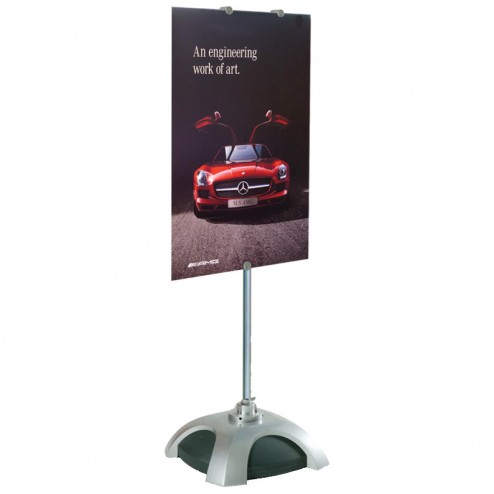 portable Versatole height adjustable signholder stand take multiple panel sizes