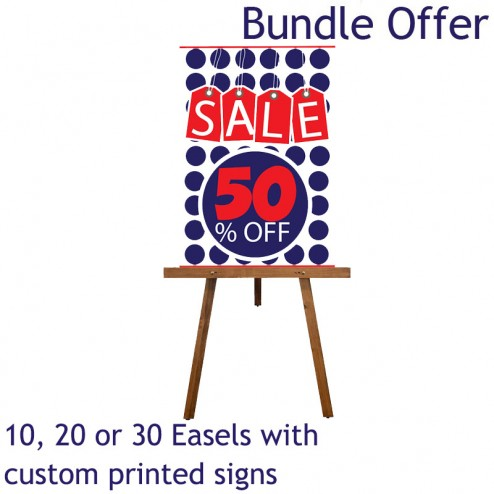 10, 20, or 30 easel bundle