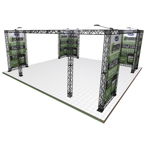 Truss Stand with custom printed graphics