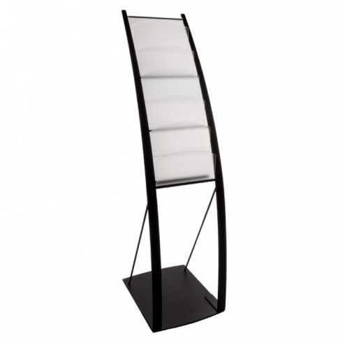 Curved Onyx Literature Display Stand