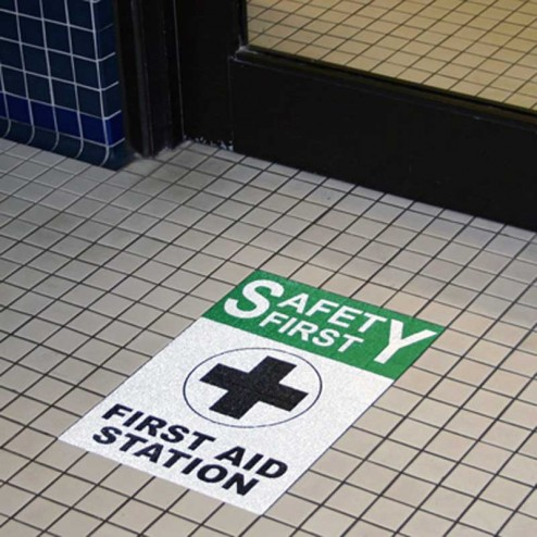 Safety floor stickers
