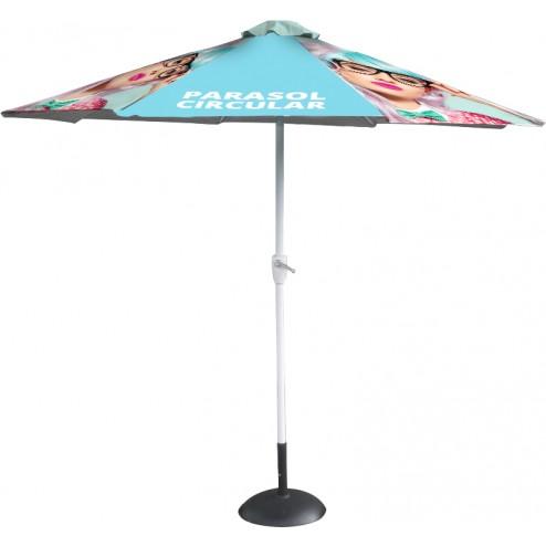 Round custom printed parasol