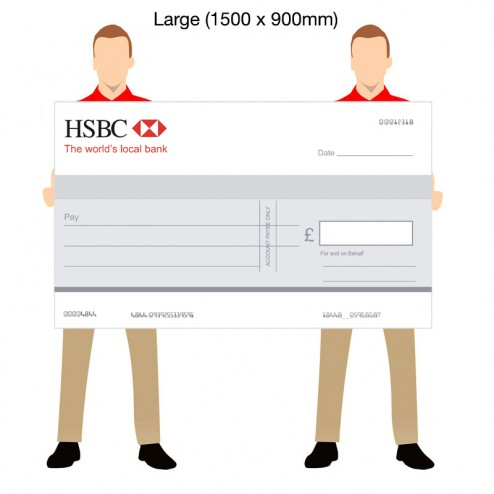 Jumbo Promotional Cheque - 1500 x 900mm