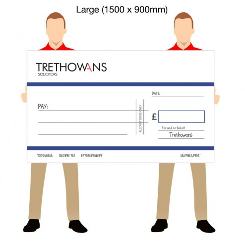 Oversized Promotional Bank Cheques - Large (1500mm x 900mm)