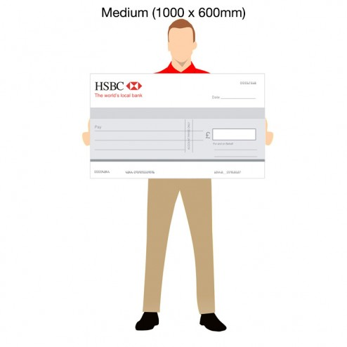 Oversized Bank Promotional cheque - 1000 x 600mm