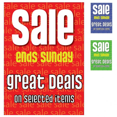 Poster - Sale Ends Sunday - 178