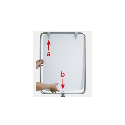 Fully height adjustable Multi-position sign board