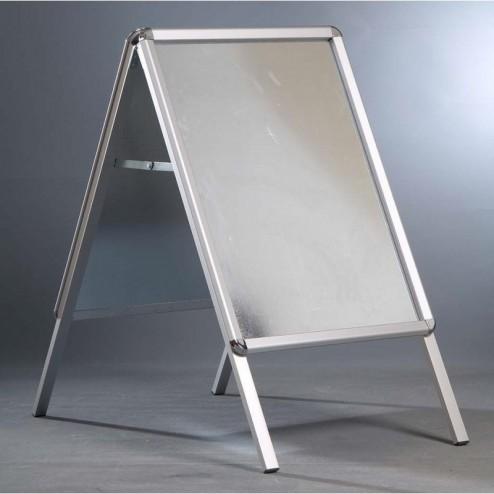 A0 Sidewalk Sign - Silver
