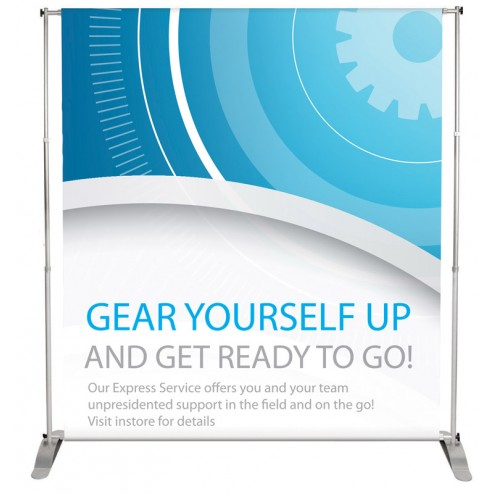 Wide banner stand