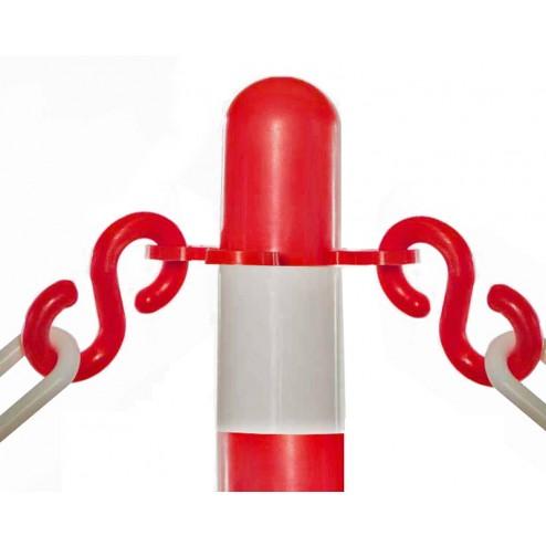 Plastic chain barrier S hooks