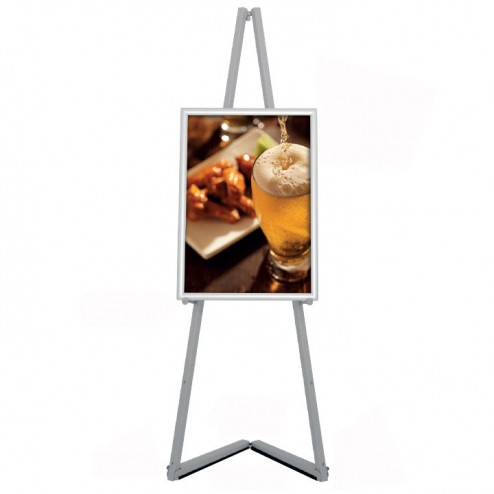 Modern metal folding easel with optional Poster frame