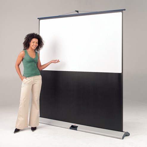 Floor standing projector screen