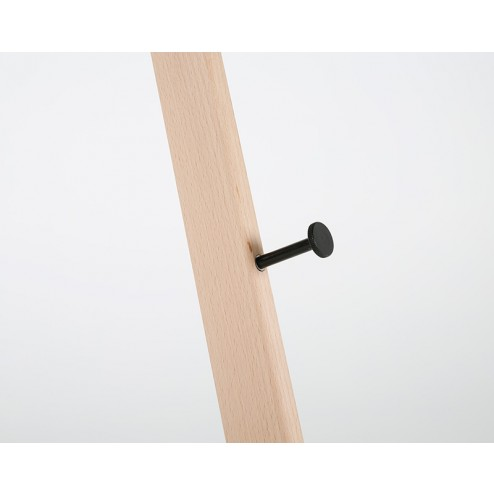 Removable peg for adjustable board holder height