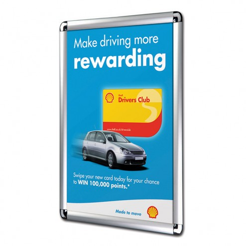 Point of Sale Poster Frames 25mm Profile - Round Corners
