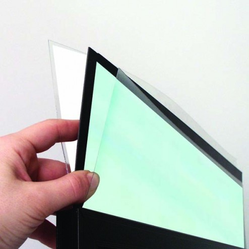 Poster protector large display area