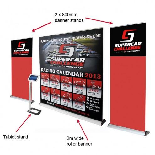 Roller banner kit