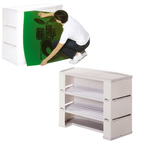 Promoter Plus Display Stand - Internal Shelves and option printed graphics