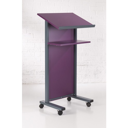 Purple Coloured Panel Front Lectern