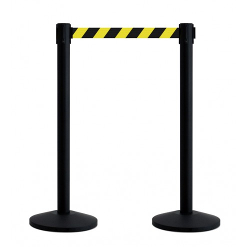 Black and Yellow Chevron Barrier