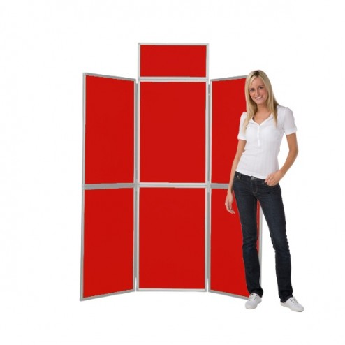Red Folding Display Board