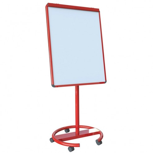 Red mobile whiteboard