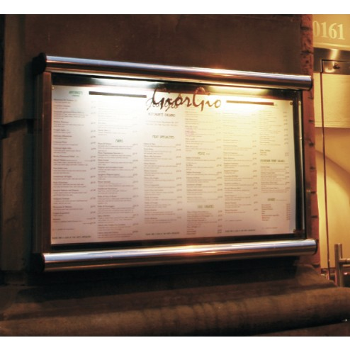 Battery Powered Restaurant Menu Case Discount Displays