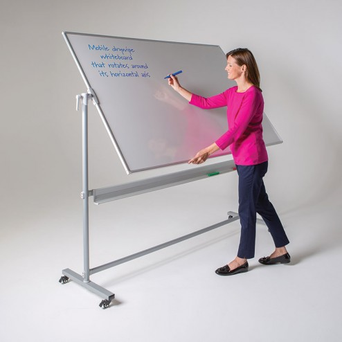 Tiltable whiteboard for easy writing