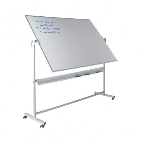 Revolving Whiteboard on Wheels
