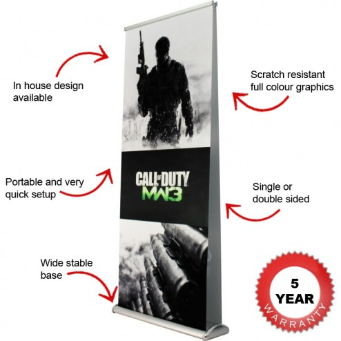 Rolla 1 banner stand features