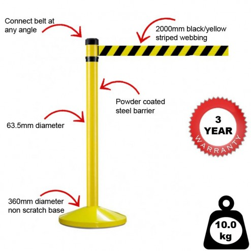 Features of this hazard barrier system