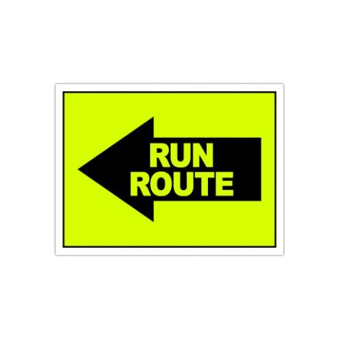 Run Route Arrow Left Sign