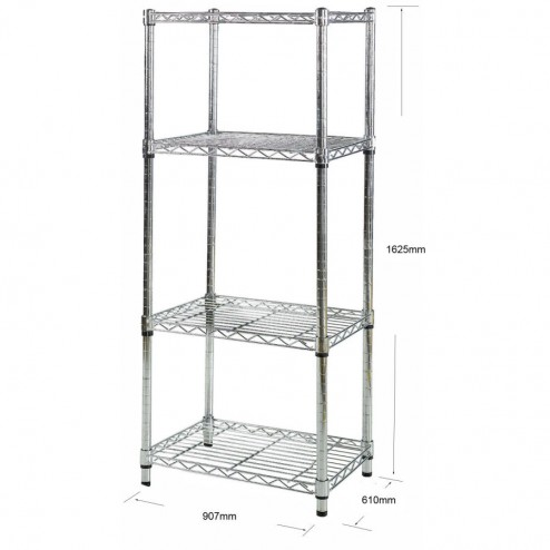 Metal wire shelving