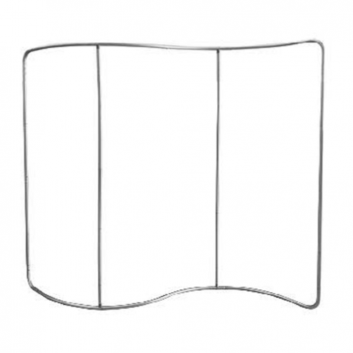 S-Shape Printed Fabric Backdrop