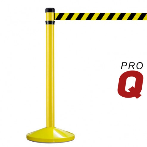 2m Yellow Retractable Barrier