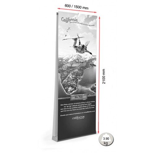 Sidewinder Banner Stand Sizes