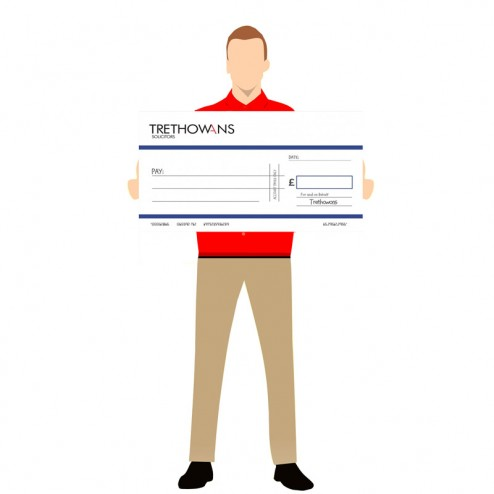 800 x 450mm Promotional Cheque