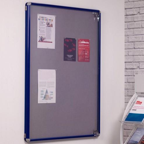 Lockable aluminium notice boards
