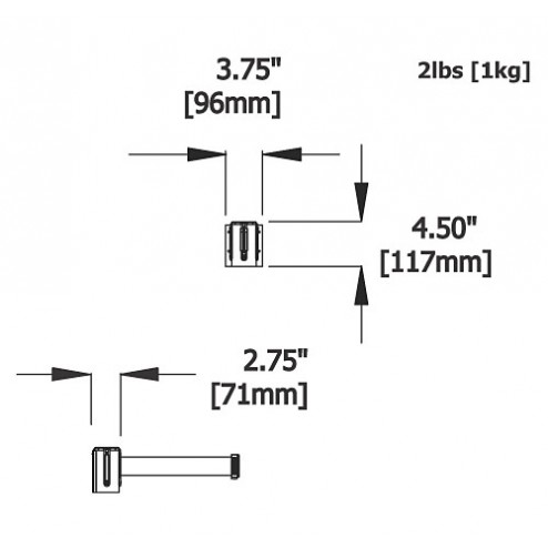 Stretch barrier dimensions