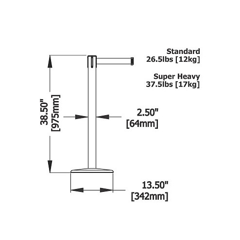 Tensa Barrier Dimensions