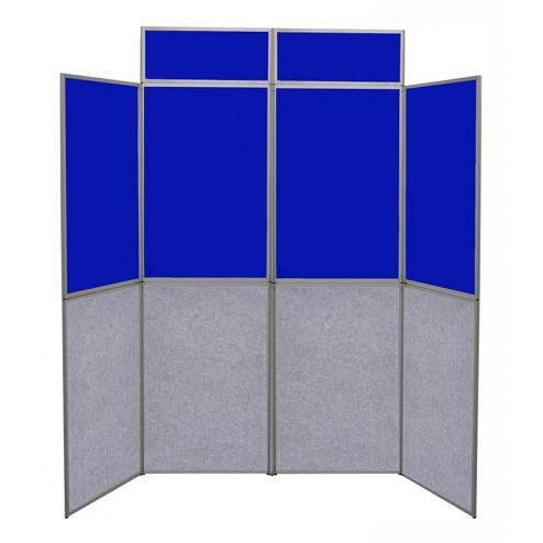 Dual colour folding display panels