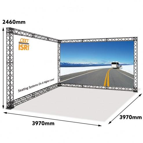 L Shaped Trade Show Display With Measurements