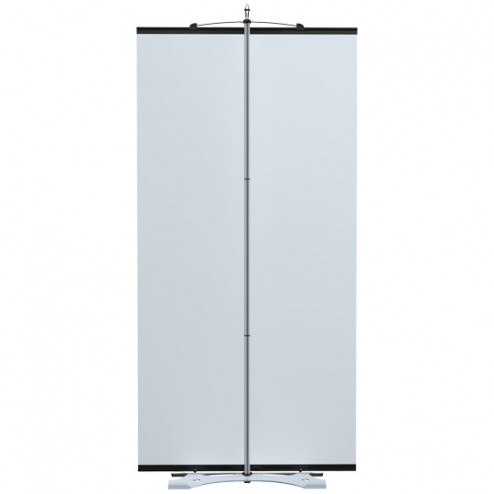 Stylish contemporary banner stand system