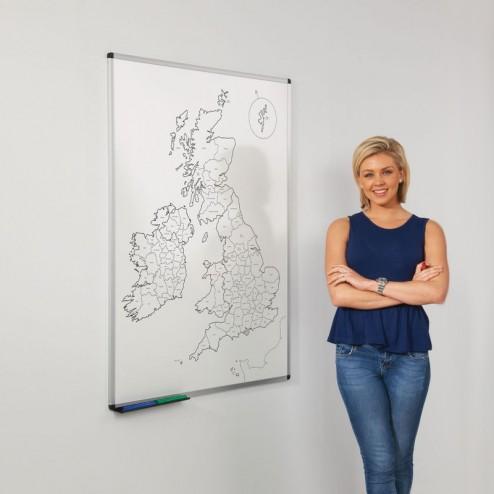 Printed UK county map