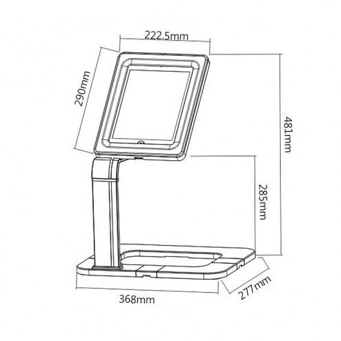 Universal tablet holder dimensions